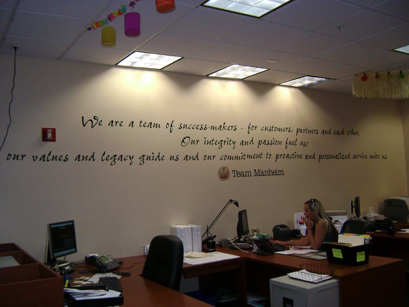 wall lettering